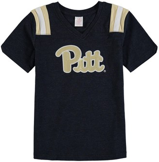 Colosseum Girls Youth Navy Pitt Panthers Rugby V-Neck T-Shirt