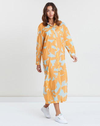 Double Rainbouu Sun Children Maxi Shirt Dress