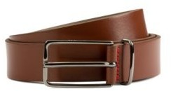 HUGO BOSS Leather belt with silver-tone buckle