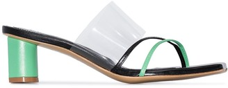 SALONDEJU 50mm leather and PVC mules