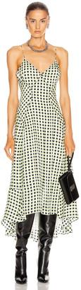 Proenza Schouler White Label Georgette Sleeveless Dress in Optic White & Black | FWRD
