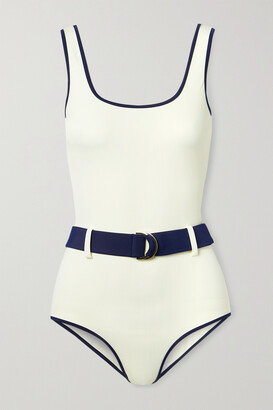 ODYSSEE Davis Belted Two-tone Recycled Swimsuit