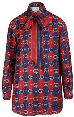 Gucci GG waves silk shirt