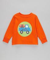 Swag Orange Turkey Truck Personalized Tee - Toddler & Boys
