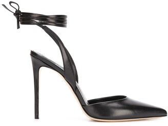 Giuliano Galiano Naomi ankle-tie pumps