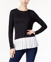 MICHAEL Michael Kors Pleated Layered-Look Top