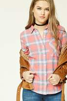 Forever 21 FOREVER 21+ Tartan Plaid Flannel Shirt