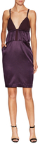 Contrast Panelled Cocktail Sheath Dress