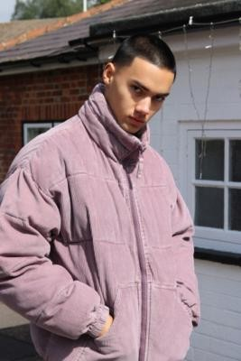 Urban Outfitters iets frans. Washed Purple Corduroy Jacket - Purple S at
