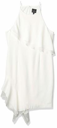 Adrianna Papell Women's Crepe & Chiffon Halter Dress