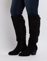 Charlotte Russe Wide Width Laced Knee-High Boots