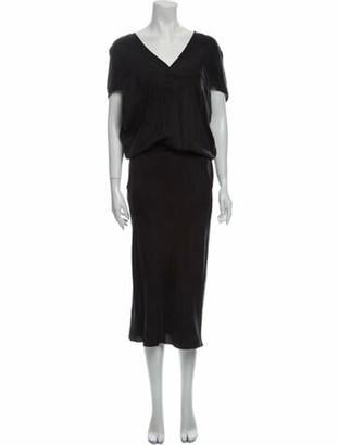 Zero Maria Cornejo V-Neck Long Dress Grey