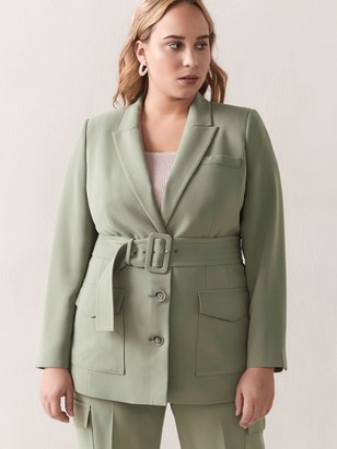 Addition Elle Belted Utility Jacket