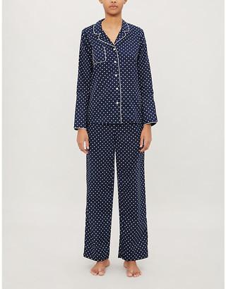 Derek Rose Plaza polka dot-print cotton pyjama set