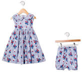 Rachel Riley Girls' Strawberry Dress Set