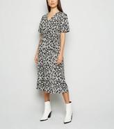 New Look Floral Wrap Midi Dress