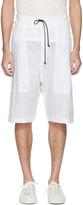 Isabel Benenato White Linen Shorts