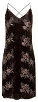 Dorothy Perkins Womens Girls On Film Black Floral Mini Slip Dress, Black