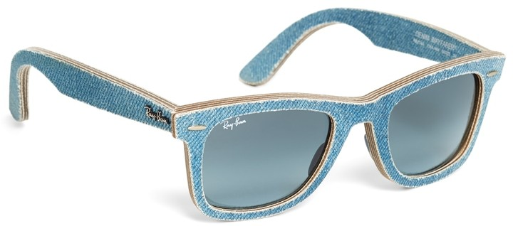 Brooks Brothers Ray-Ban Wayfarer Light-Blue Denim Sunglasses
