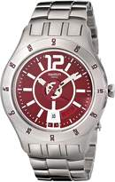 Swatch s Men's YTS405G Quartz Date Dial Stainless Steel Red Dial Watch