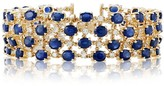 Effy Jewelry Effy 14K Yellow Gold Natural Blue Sapphire and Diamond Bracelet, 27.53