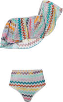 Missoni Mare Lame High Waist Ruffled Bikini