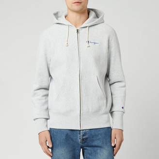 Champion Men's Small Script Full Zip Sweatshirt