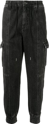 Songzio Denim Cargo Track Pants