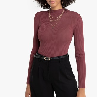 La Redoute Collections Skinny Ribbed Jumper with High Neck