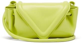 Bottega Veneta Drawstring Triangle Leather Cross-body Bag - Light Green