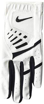 Nike Dura Feel IX Regular Left Hand Golf Gloves (Big Kids) (Pearl White/Black/Black) Athletic Sports Equipment