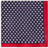 Boss Circle Flower Pocket Square