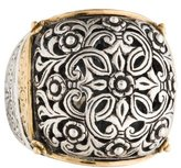 Konstantino Two-Tone Floral Engraved Cocktail Ring