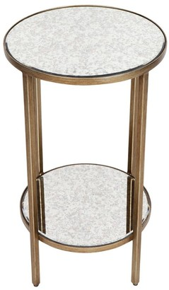 Cafe Lighting Cocktail Side Table Petite Antique Gold