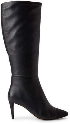 Karl Lagerfeld Paris Black Marcy Tall Leather Boots