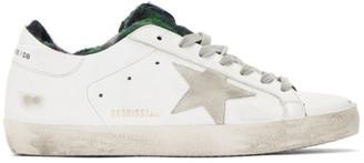 Golden Goose White Check Sock Superstar Sneakers