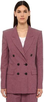 Etoile Isabel Marant Linya Double Breasted Canvas Jacket