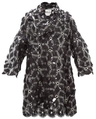 Noir Kei Ninomiya Tulle-embroidered Evening Coat - Womens - Black