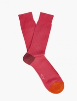 Paul Smith Pink Cotton Socks