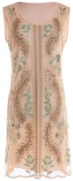 Vikoros Women's 1920s Vintage Paisley Embroidered Sequin Gatsby Flapper Dress