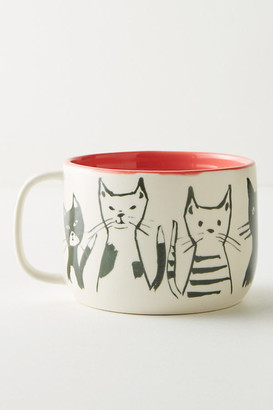 Anthropologie My Kind Of Person Mug By in Orange Size MUG/CUP
