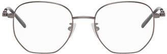 Alexander McQueen Gunmetal Round Glasses