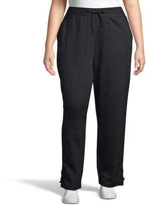 Just My Size Plus Size French Terry Lace-Up Jogger Pants