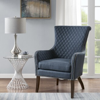 Madison Home USA Lea Dark Blue Accent Chair