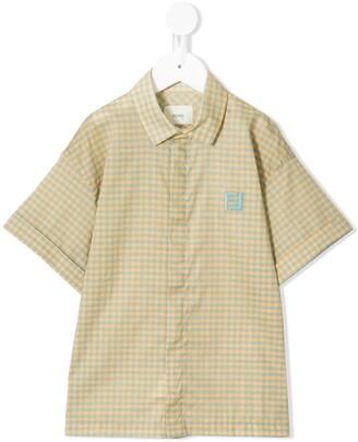 Fendi Kids Checked Twill Shirt