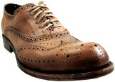 Jo Ghost 1447 Men's Italian Leather Wingtip Brogue Lace-Up Dress Shoes in EU Size 46