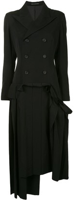 Yohji Yamamoto Double Breasted Blazer Dress