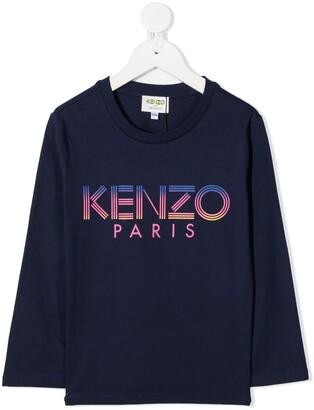 Kenzo Kids Graphic-Print Crew Neck Top