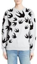 McQ by Alexander McQueen Women's Flocked Swallow Sweatshirt