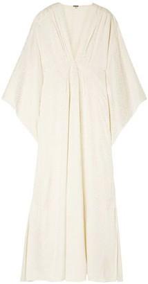 Johanna Ortiz I Want To Hold Your Hand Satin-jacquard Maxi Dress
